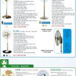Catalogue quạt lửng và quạt bàn KDK