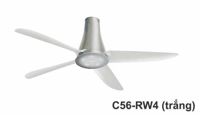 Quạt trần Mitsu C56-RW4 màu trắng